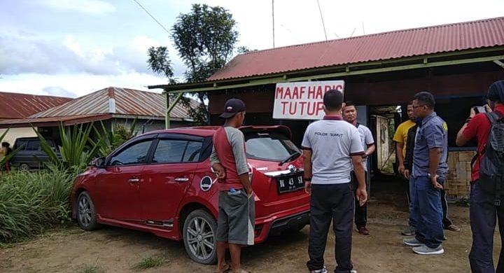 Lokasi kejadian perampokan yang menggasak uang 100 juta dan menembak korbannya, di RM Neo Cica Tasak 3, Jalan Besar Kabanjahe-Tigapanah, Desa Buah Ranggang, Kec. Tigapanah, Selasa (23/06/2020) siang.