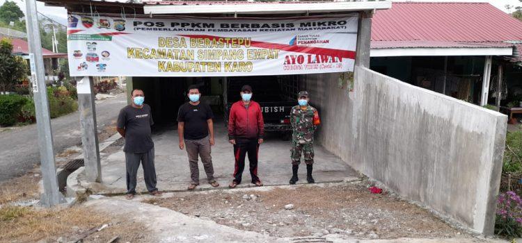 Babinsa Koramil 04/SE Hadiri Peresmian Posko PPKM Desa Berastepu