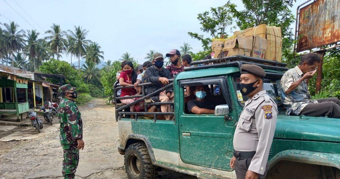 Personel Koramil 07/JH Terus Menerus Lakukan Himbauan