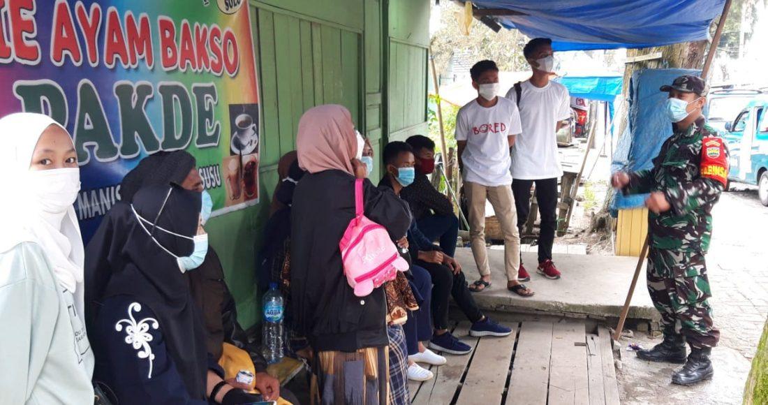 Personel Kotamil 03/BT Rutin Beri Himbauan Kepada Wisatawan