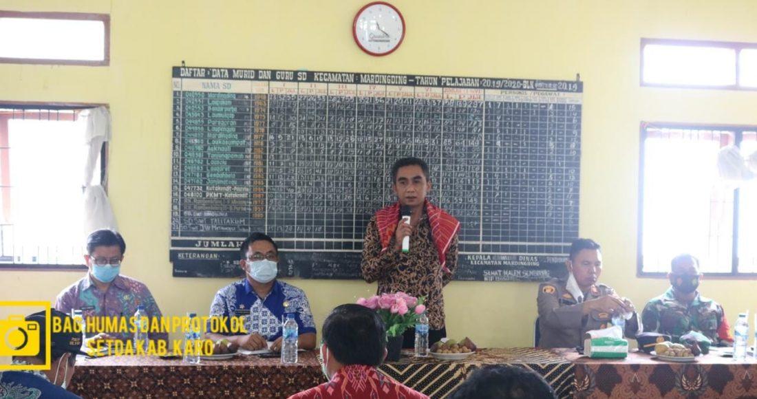 Wakil Bupati Karo hadiri Rapat Koordinasi Pemerintah Kecamatan Mardinding dan Kecamatan Lau Baleng