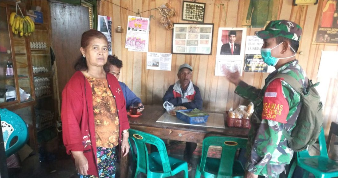 Babinsa Koramil 04/SE Kembali Laksanakan Operasi Yustisi Kepada Masyarakat