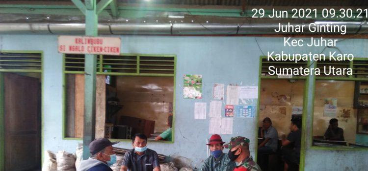 Personel Koramil 07/JH Lakukan Komsos Bersama Karang Taruna Desa Juhar Ginting