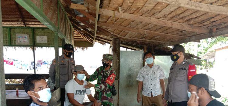 Personel Koramil 09/LB Terus Laksanakan Komsos Disiplin Prokes