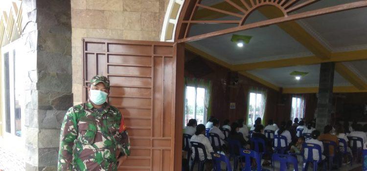 Personel Koramil 02/TP Laksanakan PAM Ibadah Minggu di Gereja GPDI Tigapanah