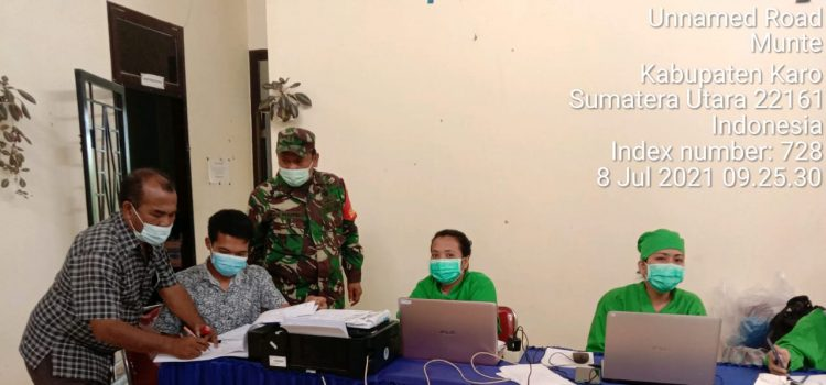 Danramil 08/TB Hadiri Sosialisasi Belajar Tatap Muka Bersama Forkopimcam dan Komite Sekolah