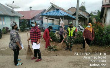 Gotong Royong Membersihkan Lingkungan Terus di Gelar Koramil 05/PY