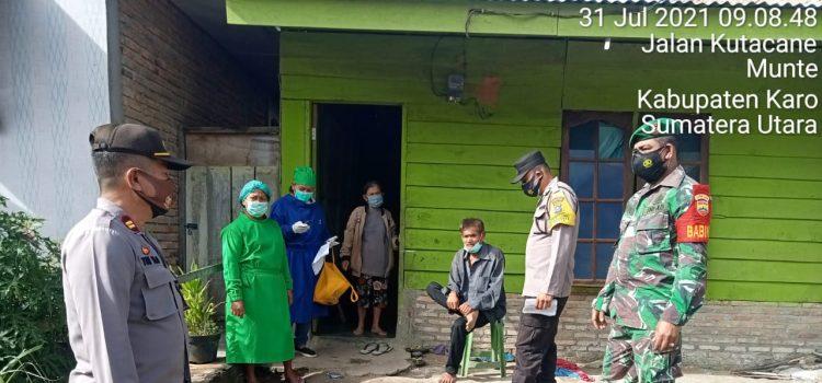 Babinsa Koramil 06/MT Dampingi Kegiatan Swab Antigen kepada Warga Desa Singgamanik
