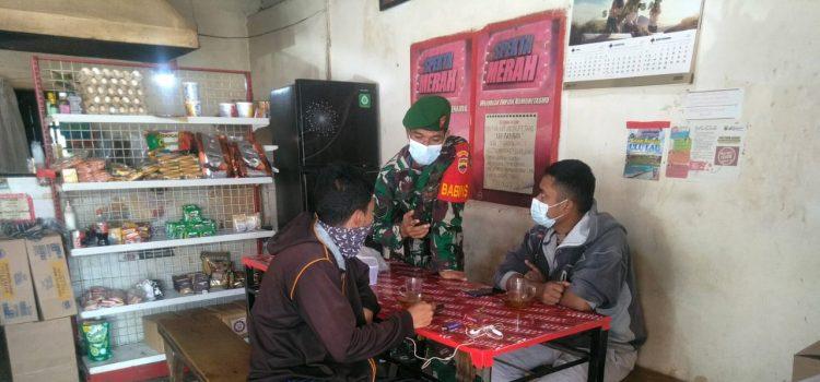 Babinsa Koramil 05/PY Lakukan Himbauan Prokes Kepada Warga Binaan