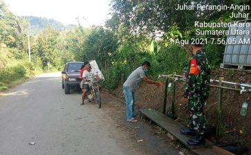 Personel Koramil 07/JH Terus Laksanakan Himbauan Prokes