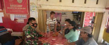 Babinsa Koramil 05/PY Laksanakan Himbauan Prokes Kepada Warga Binaan