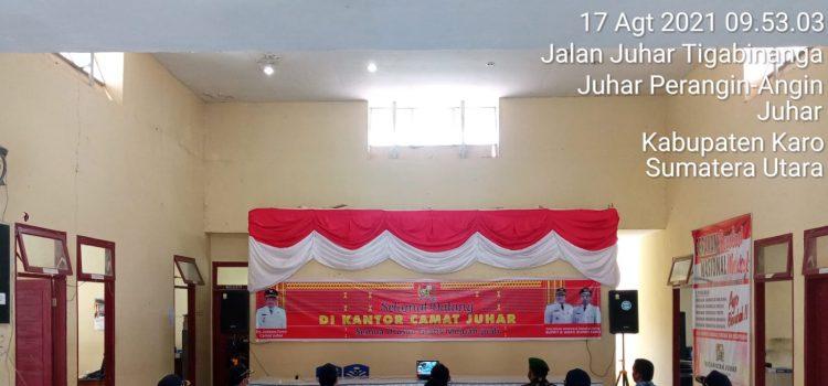 Babinsa Koramil 07/JH Hadiri Peringatan Kemerdekaan Indonesia di Kantor Camat Juhar