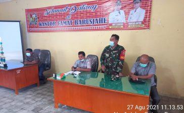 Babinsa Koramil 01/BJ Ikuti Rapat Koordinasi dengan Kecamatan Barusjahe