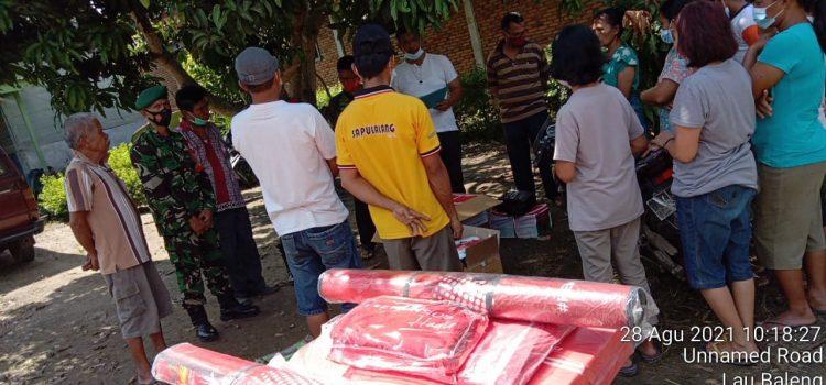 Babinsa Koramil 09/LB Ikuti Penyerahan Tali Asih Kepada Korban Kebakaran di Laubaleng