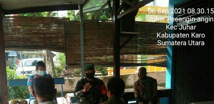 Babinsa Koramil 07/JH Sosialisasikan PPKM Mikro Kepada Warga Binaan