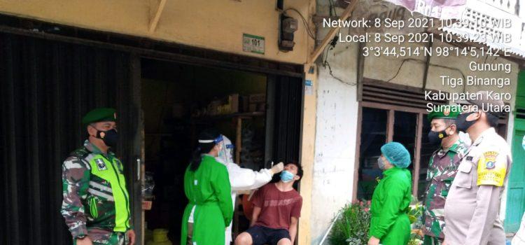 Babinsa Koramil 08/TB Lakukan Tracing Kepada Keluarga Pasien Covid19 di Desa Gunung
