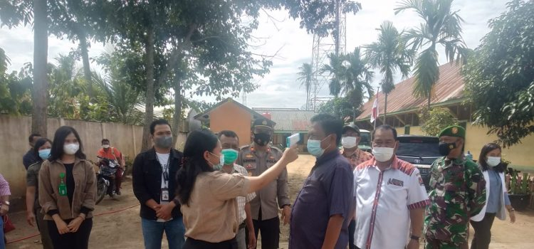 Danramil 08/TB Kapten Czi M Tarigan Laksanakan Monitoring Sekolah Tatap Muka di Tigabinanga