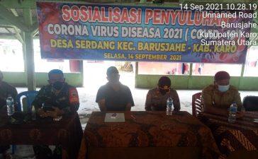 Babinsa Koramil 01/BJ Hadiri Kegiatan Sosialisasi Protokol Kesehatan di Desa Serdang