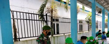 Babinsa Koramil 09/LB Turut Hadiri Kegiatan Vaksinasi di Kecamatan Laubaleng