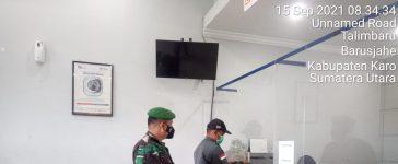 Babinsa Koramil 01/BJ Laksanakan Penghimbauan Prokes Kepada Nasabah BRI