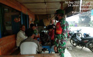 Himbauan Ketaatan Prokes Terus Menerus di Gaungkan Babinsa Koramil 02/TP