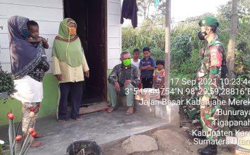 Babinsa Koramil 02/TP Himbau Masyarakat yang Akan Beraktivitas untuk Mematuhi Prokes
