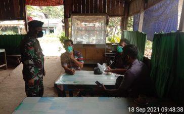 Babinsa Koramil 09/LB Laksanakan Himbauan Prokes Kepada Warga Binaan
