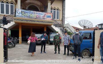 Jemaat GBKP Tigapanah Mendapat Pengawasan dan Himbauan Prokes dari Babinsa Koramil 02/TP