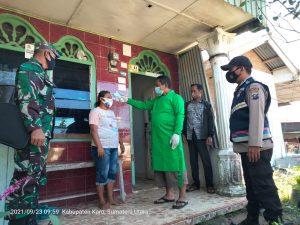 Babinsa Koramil 07/JH Lakukan Tracing Kepada Keluarga Pasien Positif Covid19 di Juhar