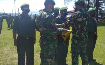 Dandim 0205/TK Lantik 12 Personel Bintara Dalam Acara Kenaikan Pangkat
