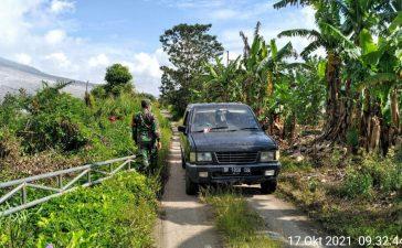Demi Keamanan Warga, Babinsa Koramil 04/SE Laksanakan Patroli Zona Merah Gunung Sinabung