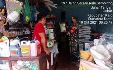 Babinsa Koramil 07/JH Laksanakan Pengecekan Stok Pupuk di Desa Juhar Tarigan