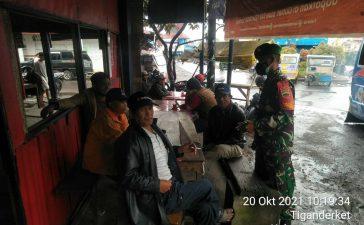 Babinsa Koramil 05/PY Berikan Himbauan Memgenai Prokes Kepada Warga Binaan