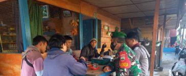 Babinsa Koramil 02/TP Himbau Warga Binaan Terus Patuh Terhadap Prokes Demi Kesehatan Bersama