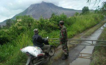 Babinsa Koramil 04/SE Laksanakan Patroli Zona Merah Gunung Sinabung