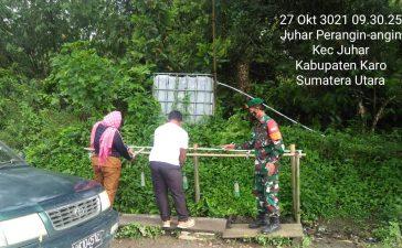 Babinsa Koramil 07/JH Laksanakan Sosialisasikan Prokes Kepada Warga Juhar