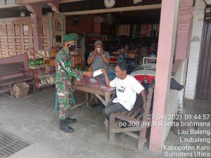 Babinsa Koramil 09/LB Berikan Himbauan Prokes Kepada Warga Binaan