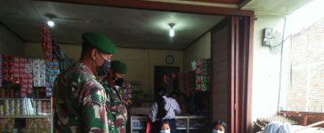 Babinsa Koramil 04/SE Terus Gaungkan Patuh Prokes Kepada Warga Binaan